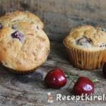 Cseresznyés csokoládés muffin 1