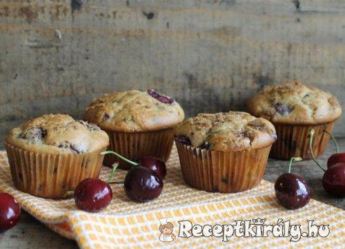 Cseresznyés csokoládés muffin