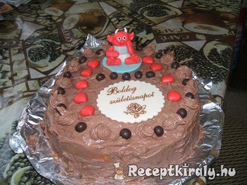 Főzött krémes csoki torta