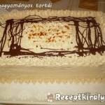 Karamellás-csokis vienetta torta