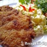 Mustáros rántott sertésborda majonézes krumplival