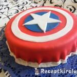 Amerika kapitány torta 3