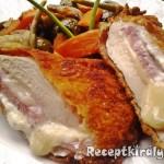 Csirkemell sonkával fokhagymás krémsajttal töltve 1
