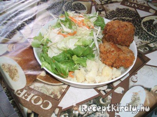 Fasírozott főtt burgonyával diétásan