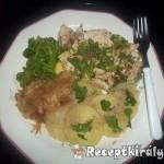 Fehérboros csirkemell párolt brokkolival és káposztával 1