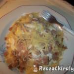 Túrós tejfölös sonkás sajtos tészta 1