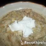 Tejszínes kapros tökfőzelék csirkemellcsíkokkal 1