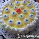 Tejszinhabos vaniliakrémes torta