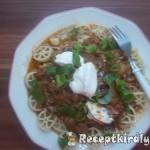 Vörösboros gombapaprikás tésztával 1