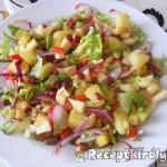 Balzsamecetes vegyes saláta 3