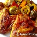 Csirkeszárnyak zöldségágyon sütve 1