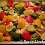 Csirkeszárnyak zöldségágyon sütve 3