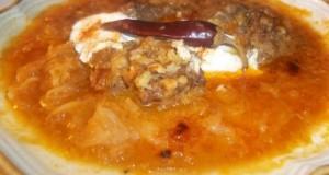 Vörösboros lucskos káposzta húsgombóccal