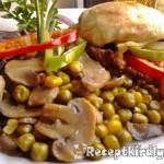 Zöldségekkel sütött karajszeletek