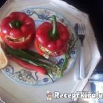 Chilis medvehagymás vajkrémmel töltött paprika 2