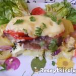 Frissensült tarja zöldségekkel 1