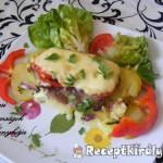 Frissensült tarja zöldségekkel 3
