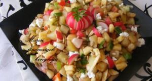 Színes zöldséges saláta