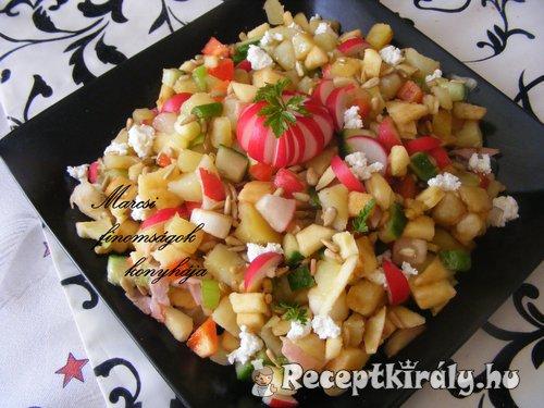 Színes zőldséges saláta