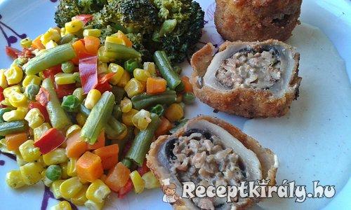 Töltött gombafejek csirkemájas, gombás, krémsajtos töltelékkel 1