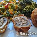 Töltött gombafejek csirkemájas, gombás, krémsajtos töltelékkel 2