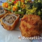 Töltött gombafejek csirkemájas, gombás, krémsajtos töltelékkel 3