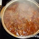 Vörösboros birkapörkölt sós krumplival 2