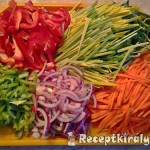 Zöldségekkel sütött csirkemell csíkok 3