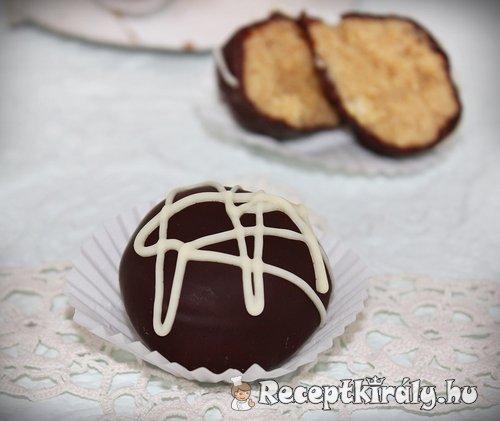 Csokoládés-mogyoróvajas golyó