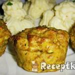 Cukkinis fűszeres húsmuffin 1