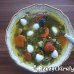 Medvehagymás zöldségleves mozzarellával 1
