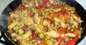 Zöldséges csirkemell