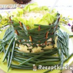 Ehető salátás tál 1