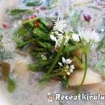 Medvehagyma főzelék zöldségesen 1