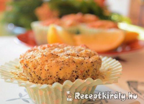 Paleo citromos mákos muffin