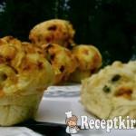 Cheddar sajtos kolbászos puffancs 3