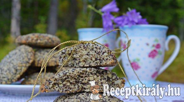 Citromos mákos keksz - paleo