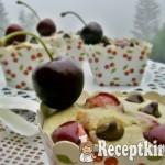 Cseresznyés csokis cupcake 1