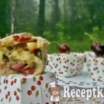 Cseresznyés csokis cupcake 3