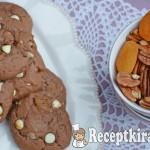Kakaós fehércsokis marcipános keksz 1
