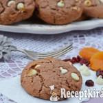 Kakaós fehércsokis marcipános keksz 2