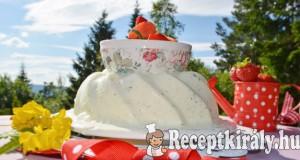 Lime-os vaníliás joghurt sorbet