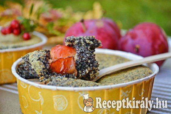 Mákos mini pite szilvával, vörös áfonyával - Paleo