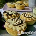Mini marzipános almás piték