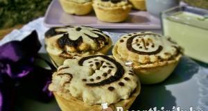 Mini marcipános almás piték