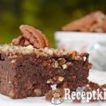 Pekándiós paleo brownie 1
