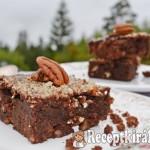 Pekándiós paleo brownie