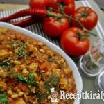 Spanyol csirketál vajbabbal 2