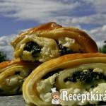 Spenótos fetás csiga - túrós leveles tésztából 3