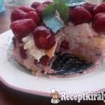 Szamóca-túrótorta sütés nélkül 2